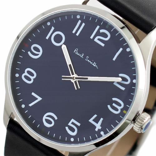 ポールスミス PAUL SMITH 腕時計 メンズ P10120 クォーツ ネイビー ブラック
