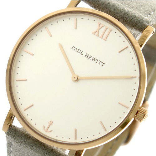 ポールヒューイット PAUL HEWITT 腕時計 メンズ レディース PH-SA-R-ST-W-37S 9833509 セラーライン Sailor Line クォーツ オフホワイト グレー
