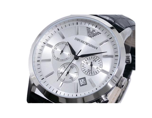 エンポリオ革ベルト腕時計