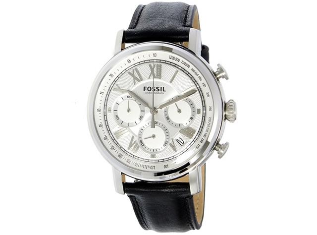 フォッシル革ベルト腕時計