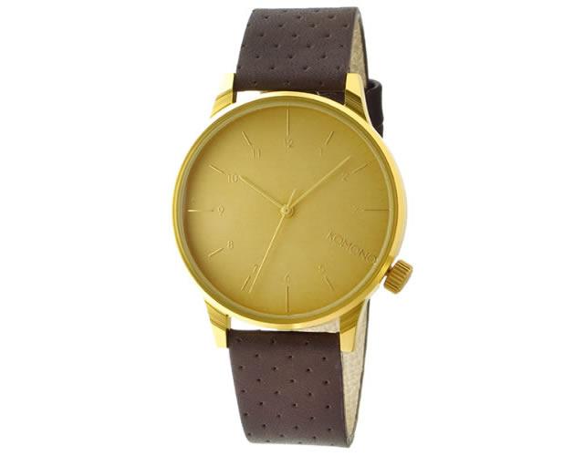 コモノ革ベルト腕時計
