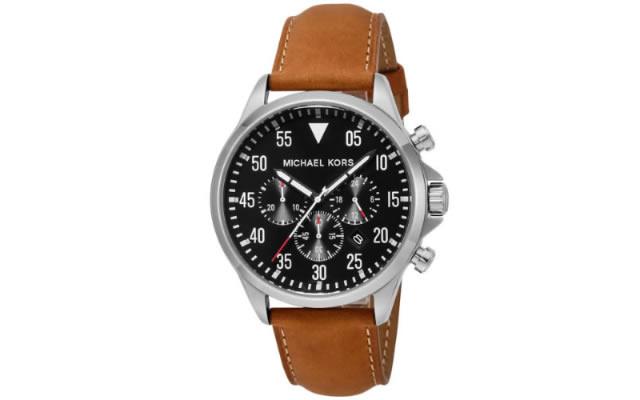 マイケルコース革ベルト腕時計