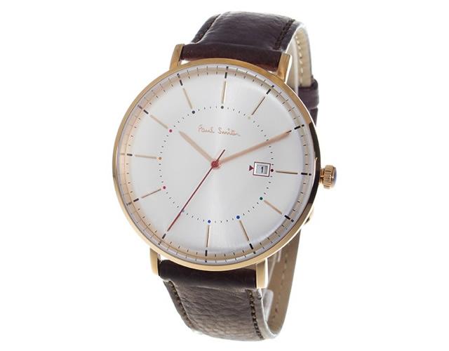 ポールスミス革ベルト腕時計