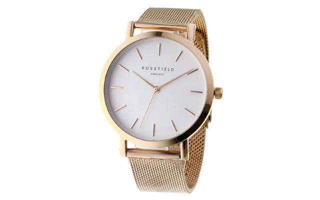 ローズフィールドメタルバンド腕時計