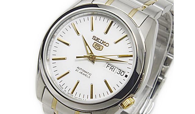 セイコー5メタルバンド腕時計