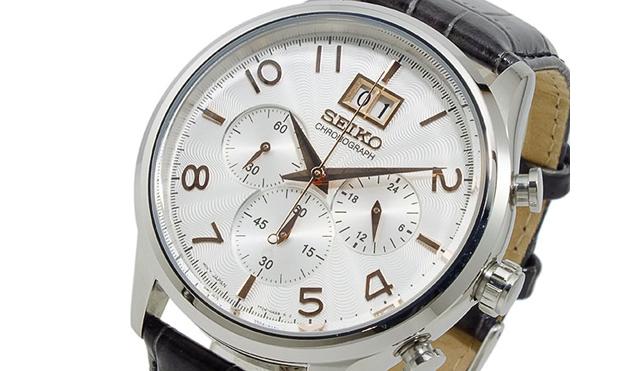 セイコー革ベルト腕時計