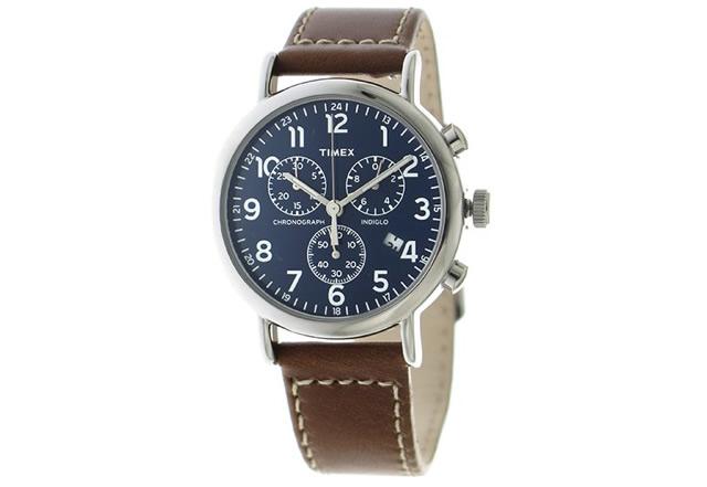 タイメックス革ベルト腕時計