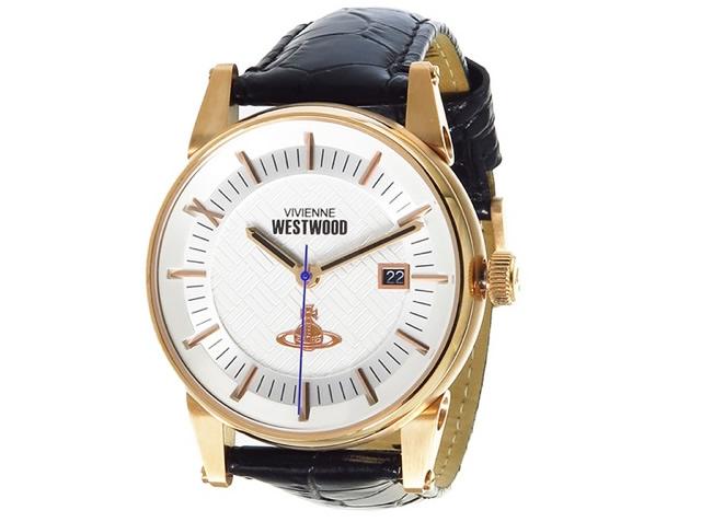 ヴィヴィアンウエストウッド革ベルト腕時計
