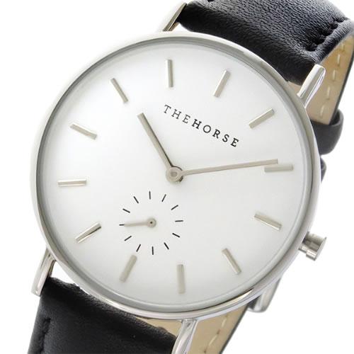 ザ ホース クラシック クオーツ ユニセックス 腕時計 AS01-B2 ホワイト/ブラック