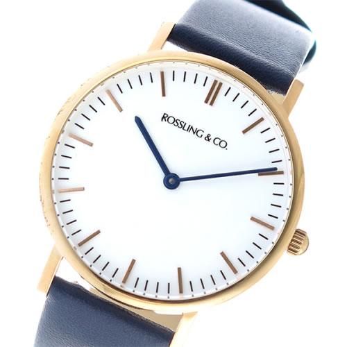 ロスリング CLASSIC 36MM Navy クオーツ ユニセックス 腕時計 RO-005-011 ネイビー/ホワイト