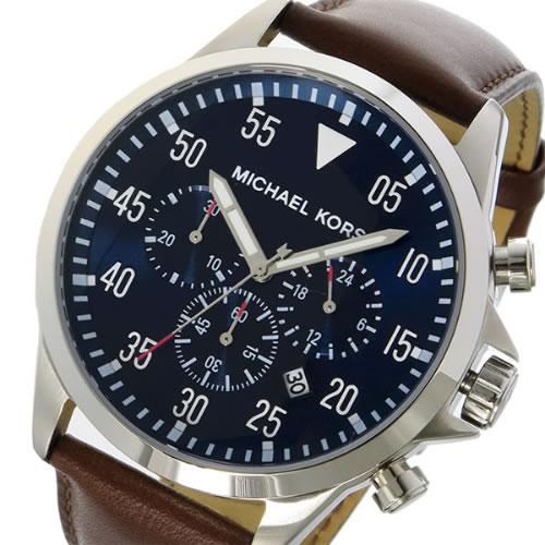 マイケルコース ゲージ クオーツ クロノ メンズ 腕時計 MK8362 ネイビー
