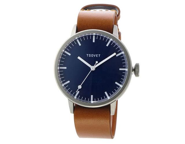 ソベット 革ベルト腕時計