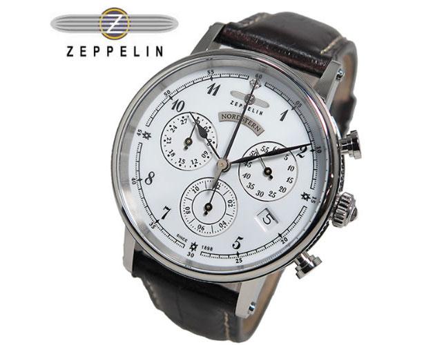 ツェッペリン革ベルト腕時計