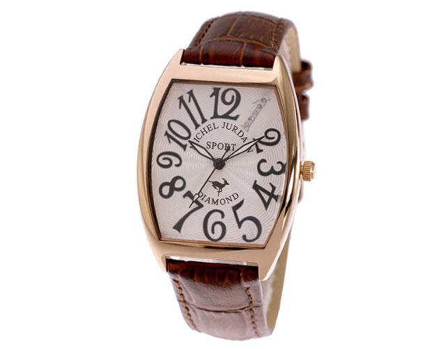 ミシェルジョルダン革ベルト腕時計