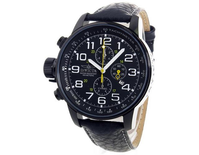 インヴィクタ革ベルト腕時計