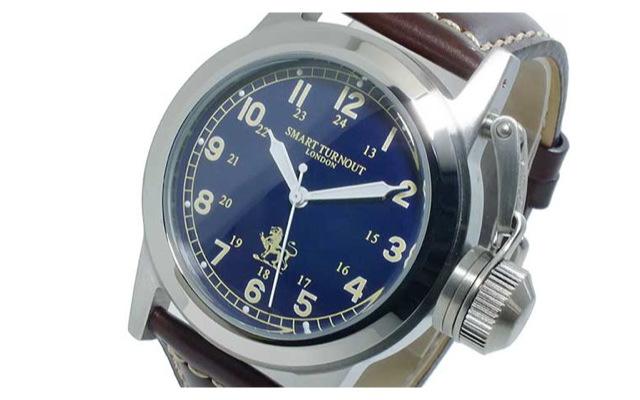 スマートターンアウト革ベルト腕時計