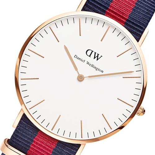 ダニエル ウェリントン オックスフォード/ローズ 40mm クオーツ 腕時計 0101DW