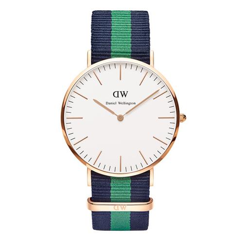 ダニエル ウェリントン ワーウィック/ローズ 40mm クオーツ 腕時計 0105DW