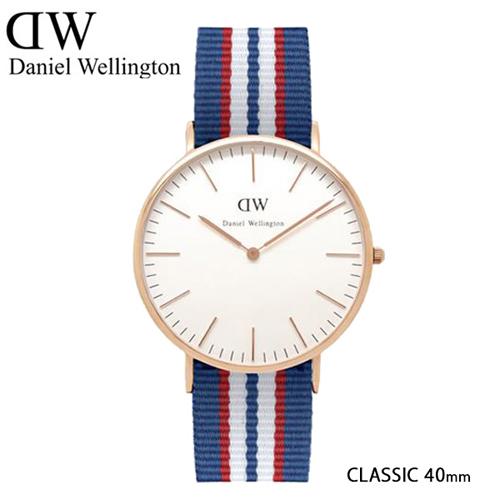 ダニエル ウェリントン ベルファスト/ローズ 40mm クオーツ 腕時計 0113DW