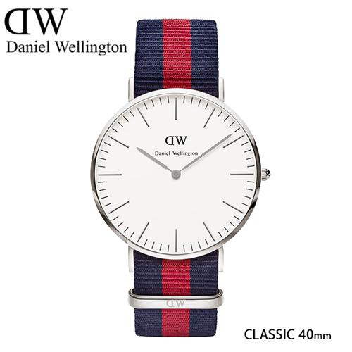 ダニエル ウェリントン オックスフォード/シルバー 40mm クオーツ 腕時計 0201DW