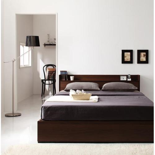 【Ever】エヴァーコンセント付き収納シングルベッド