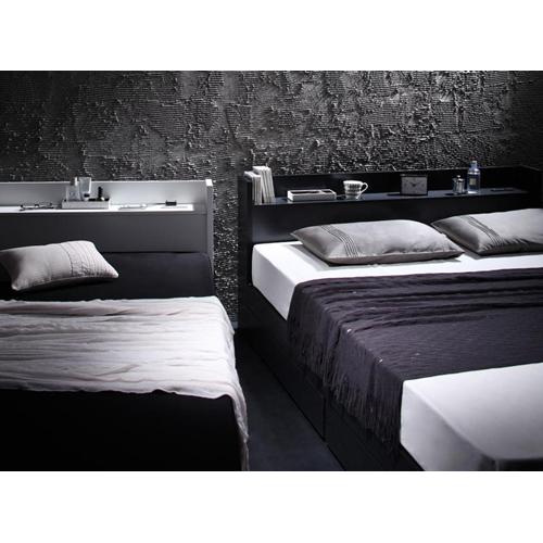 【VEGA】ヴェガ棚・コンセント付き収納シングルベッド