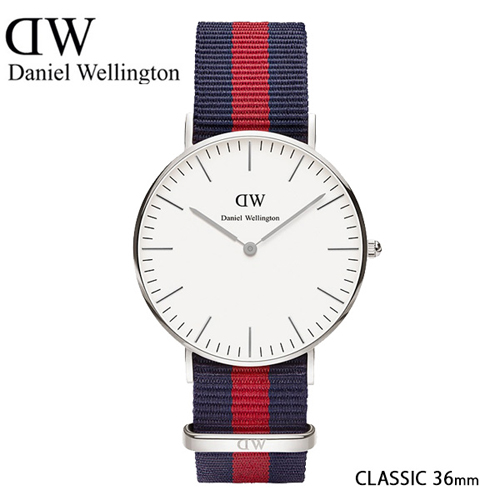 ダニエル ウェリントン オックスフォード/シルバー 36mm クオーツ 腕時計 0601DW