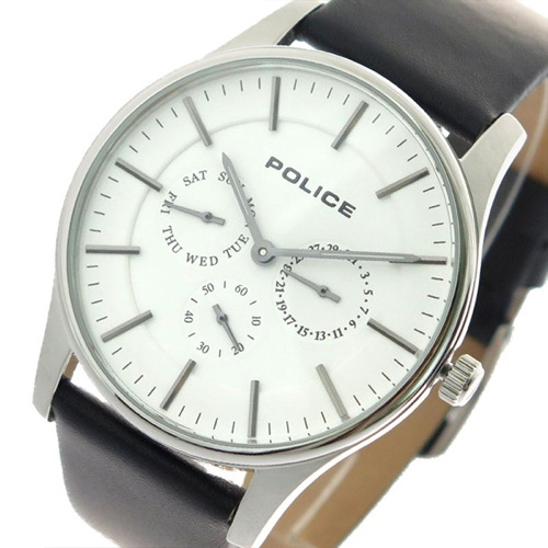 ポリス POLICE 腕時計 メンズ 14701JS-01 クォーツ ホワイト ブラック></a><p class=blog_products_name