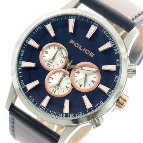 ポリス POLICE 腕時計 メンズ 15000JS-03 クォーツ ネイビー></a><p class=blog_products_name