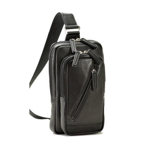 ハミルトン HAMILTON 馬革 ボディバッグ メンズ 1637501 ブラック