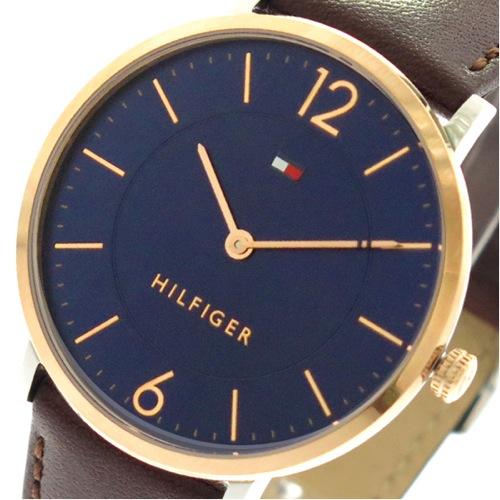 トミーヒルフィガー TOMMY HILFIGER 腕時計 メンズ 1710354 クォーツ ネイビー ブラウン></a><p class=blog_products_name