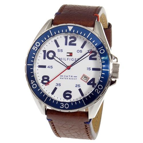 トミー ヒルフィガー クオーツ メンズ 腕時計 1791132 ホワイト