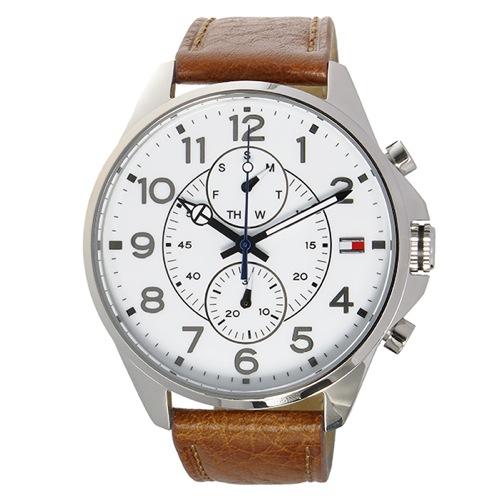 トミー ヒルフィガー クオーツ メンズ 腕時計 1791274 ホワイト