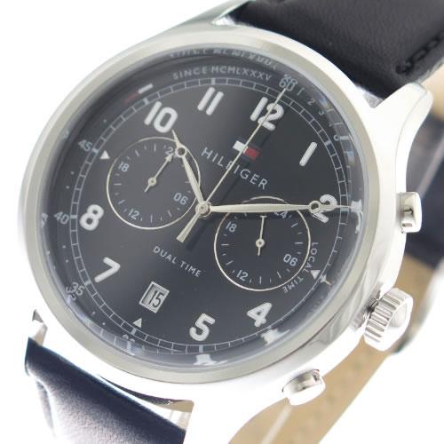 トミーヒルフィガー 腕時計 メンズ 1791388 ブラック></a><p class=blog_products_name