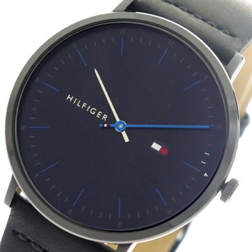 トミーヒルフィガー TOMMY HILFIGER 腕時計 メンズ 1791462 クォーツ ダークネイビー ブラック></a><p class=blog_products_name