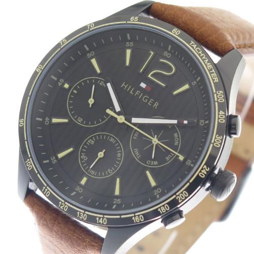 トミーヒルフィガー 腕時計 メンズ 1791470 ブラック ブラウン></a><p class=blog_products_name