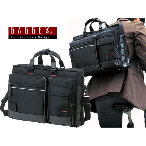バジェックス BAGGEX 3WAY ビジネスバッグ メンズ 23-5514 ブラック