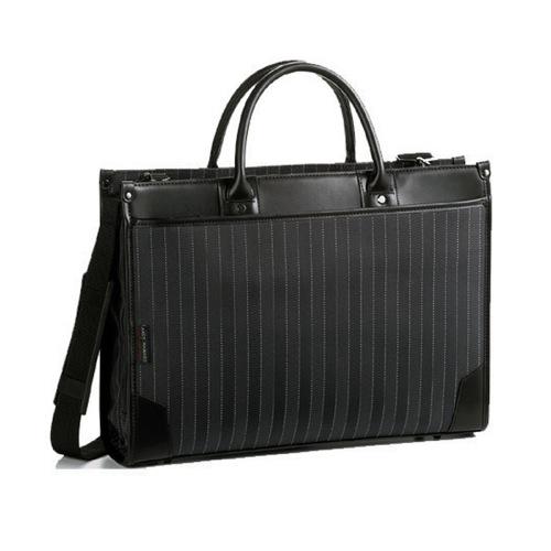 アンディハワード ストライプ ビジネスバッグ メンズ 2654301 ブラック
