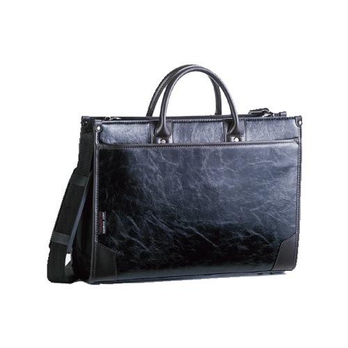 アンディーハワード 合皮コンビフチ巻き ビジネスバッグ メンズ 2656101 ブラック