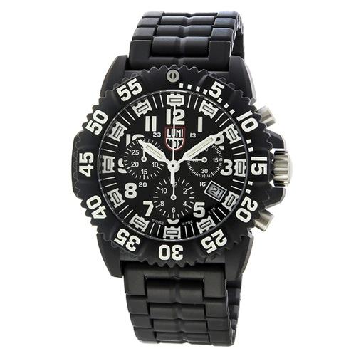 ルミノックス ネイビーシールズ カラーマーク クロノ クオーツ メンズ 腕時計 3082 ブラック