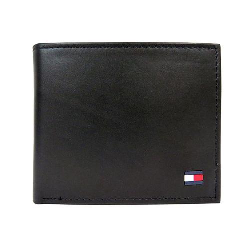 トミー ヒルフィガー TOMMY HILFIGER 二つ折り 短財布 31TL13X059-001 ブラック