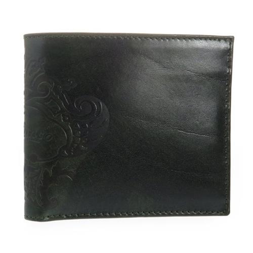 オロビアンコ メンズ 二つ折り短財布 FIRIPPO-I3 TRILOGIA VERDONE ダークグリーン