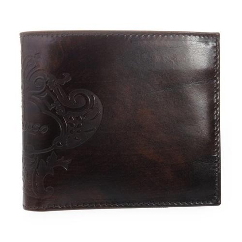 オロビアンコ メンズ 二つ折り短財布 FIRIPPO-I3 TRILOGIA CACAO ダークブラウン
