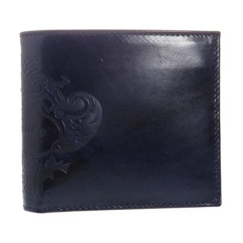 オロビアンコ メンズ 二つ折り短財布 FIRIPPO-I3 TRILOGIA NAVY ネイビー