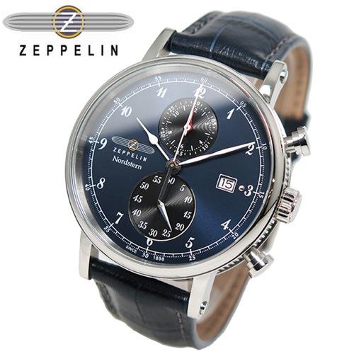 ツェッペリン ZEPPELIN ノルドスタン クオーツ メンズ クロノ 腕時計 7578-3