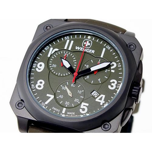 ウェンガー WENGER エアログラフ コックピット クオーツ メンズ クロノ 腕時計 77011