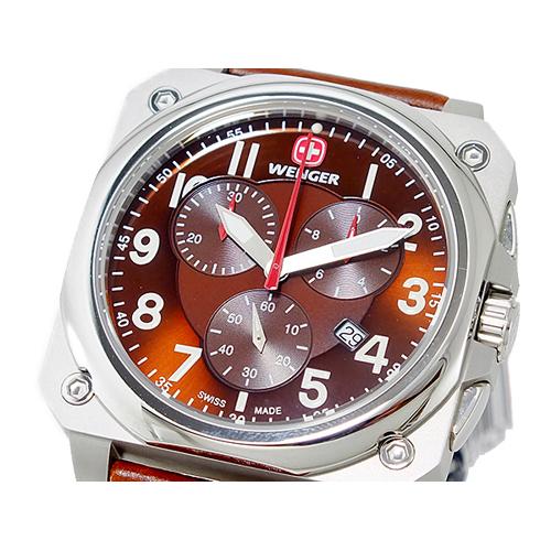 ウェンガー WENGER エアログラフ コックピット クオーツ メンズ クロノ 腕時計 77014
