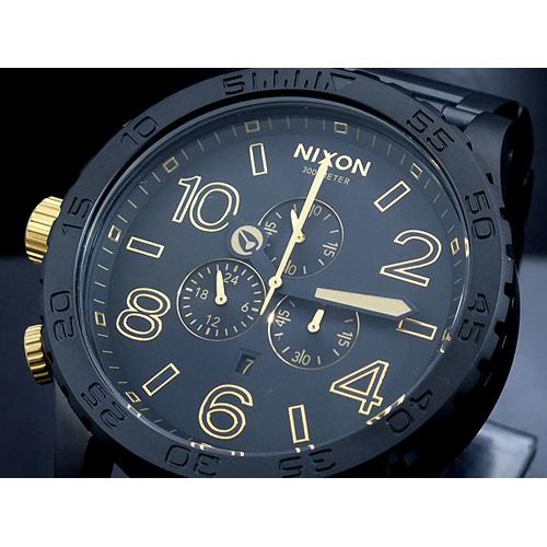 ニクソン NIXON 51-30 CHRONO 腕時計 A083-1041 MATTE BLACK GOLD