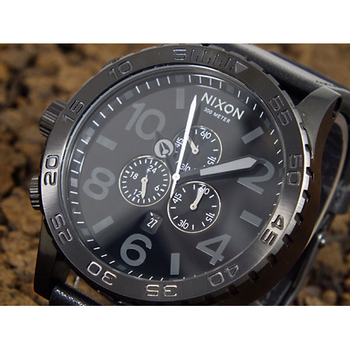 ニクソン NIXON 51-30 CHRONO 腕時計 A124-001 ALL BLACK