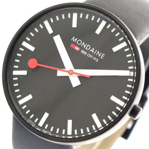 モンディーン MONDAINE 腕時計 メンズ A660.30328.64SBB クォーツ ブラック></a><p class=blog_products_name